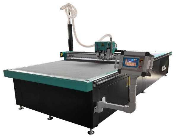 CNC Woodworking Sliding Table Saw , Knife Cutting Machine For Leather Cutting